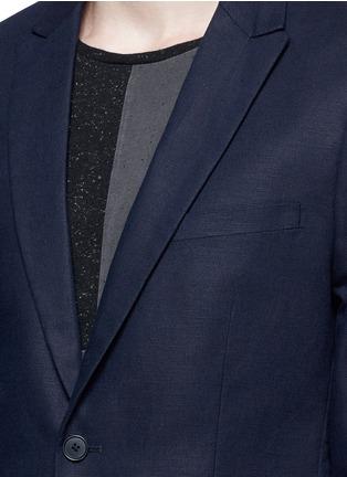 细节 - 点击放大 - SCOTCH & SODA - 单色棉混亚麻西服外套
