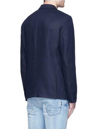 背面 - 点击放大 - SCOTCH & SODA - 单色棉混亚麻西服外套