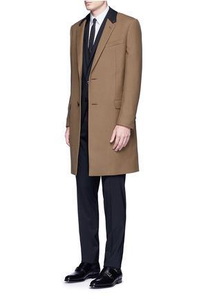 模特儿示范图 - 点击放大 - DOLCE & GABBANA - GOLD羊毛连马甲西服套装