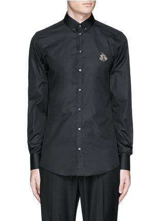首图 - 点击放大 - DOLCE & GABBANA - GOLD仿水晶蜜蜂装饰纯棉衬衫