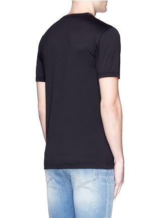 背面 - 点击放大 - DOLCE & GABBANA - 黑手党造型拼贴纯棉T恤