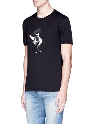 正面 -点击放大 - DOLCE & GABBANA - 黑手党造型拼贴纯棉T恤
