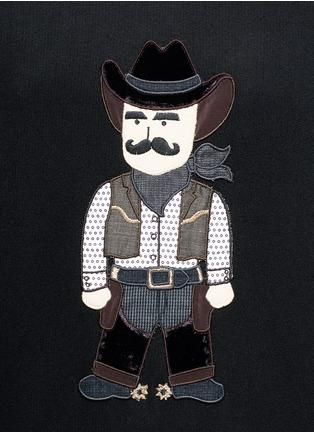 细节 - 点击放大 - DOLCE & GABBANA - 西部牛仔卡通拼贴连帽卫衣