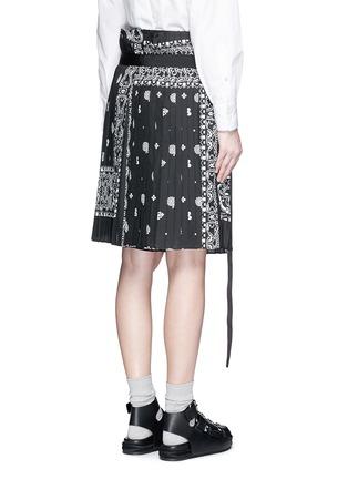 背面 - 点击放大 - SACAI - 班达纳印花百褶阔腿裙裤