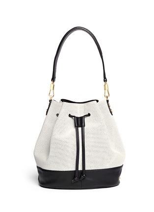 背面 - 点击放大 - ELIZABETH AND JAMES - 'Cynnie' perforated leather bucket bag