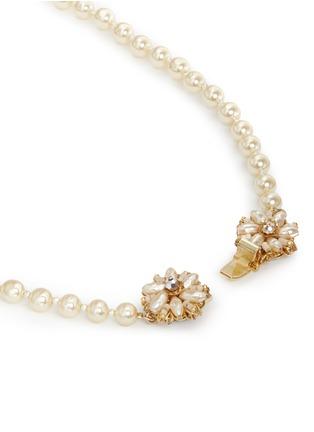 细节 - 点击放大 - MIRIAM HASKELL - 花卉造型插扣人造珍珠项链