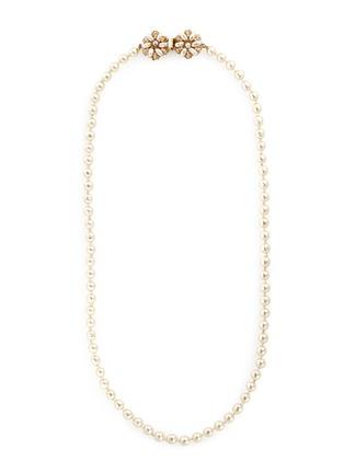 首图 - 点击放大 - MIRIAM HASKELL - 花卉造型插扣人造珍珠项链