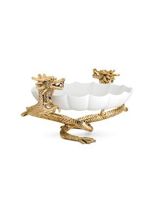 首图 –点击放大 - L'OBJET - Dragon双龙造型利摩日瓷碗-大