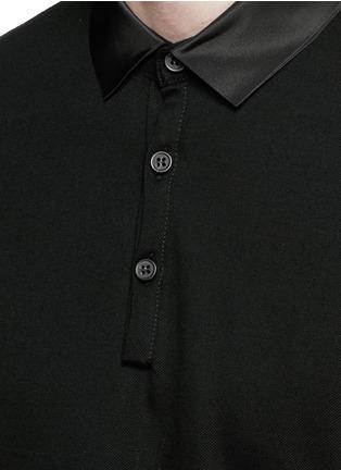 细节 - 点击放大 - LANVIN - 罗缎翻领纯棉Polo衫