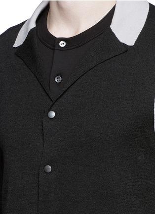 细节 - 点击放大 - LANVIN - 拼色羊毛混丝针织外套