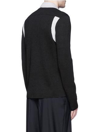 背面 - 点击放大 - LANVIN - 拼色羊毛混丝针织外套