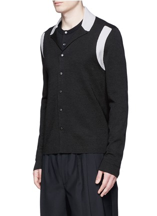 正面 -点击放大 - LANVIN - 拼色羊毛混丝针织外套