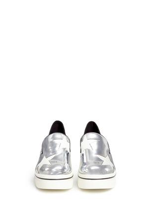 正面 -点击放大 - STELLA MCCARTNEY - 星星拼贴厚底便鞋