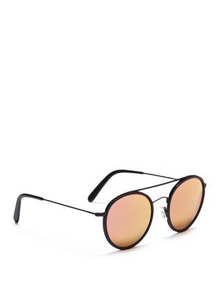 模特示范图 - 点击放大 - SPEKTRE - VANNI金属细框飞行员太阳眼镜