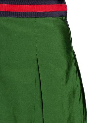 细节 - 点击放大 - GUCCI - 条纹罗缎褶裥半身裙