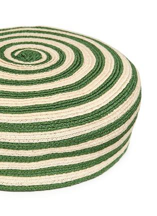 细节 - 点击放大 - GUCCI - 条纹图案混麻编织帽