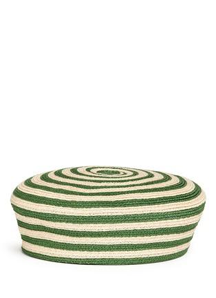 模特儿示范图 - 点击放大 - GUCCI - 条纹图案混麻编织帽