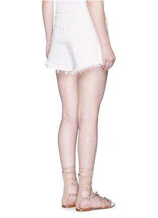 背面 - 点击放大 - CHLOÉ - 单色须边棉质短裤