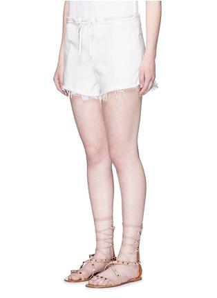 模特示范图 - 点击放大 - CHLOÉ - 单色须边棉质短裤