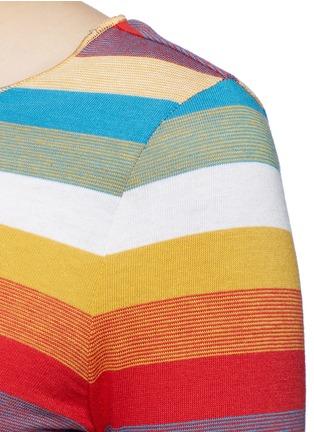 细节 - 点击放大 - CHLOÉ - 彩色条纹拼色纯棉上衣