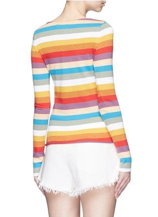 背面 - 点击放大 - CHLOÉ - 彩色条纹拼色纯棉上衣