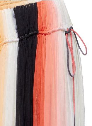 细节 - 点击放大 - CHLOÉ - 彩虹拼色百褶真丝半身裙