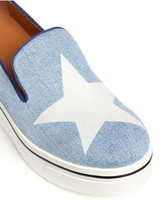 细节 - 点击放大 - STELLA MCCARTNEY - 星星图案厚底便鞋