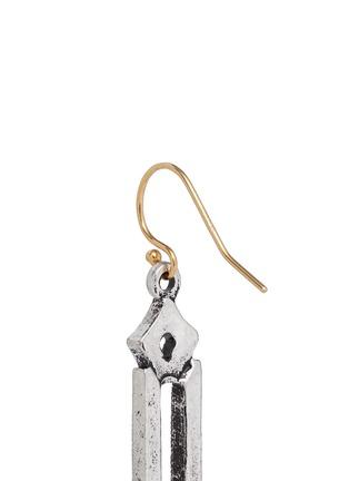 细节 - 点击放大 - LULU FROST - 几何仿水晶尖钉垂坠耳环