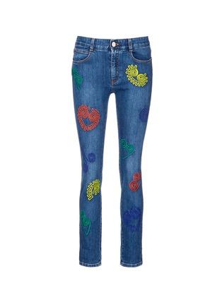 首图 - 点击放大 - STELLA MCCARTNEY - 卡通刺绣棉质牛仔裤