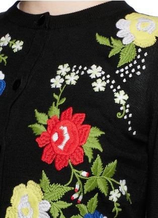 细节 - 点击放大 - alice + olivia - 花卉刺绣纯棉针织外套