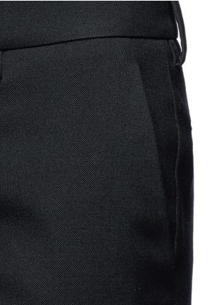 细节 - 点击放大 - SAINT LAURENT - 羊毛修身长裤