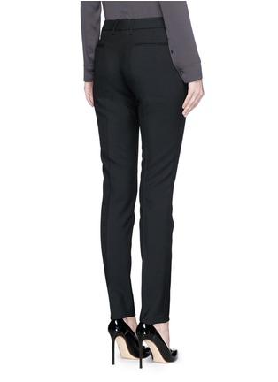 背面 - 点击放大 - SAINT LAURENT - 羊毛修身长裤