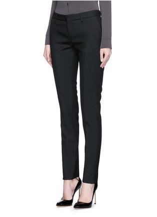 正面 -点击放大 - SAINT LAURENT - 羊毛修身长裤