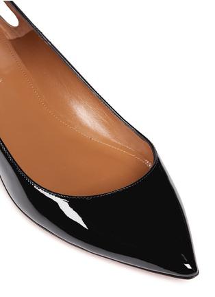 细节 - 点击放大 - AQUAZZURA - FOREVER MARYLIN流苏镂空漆皮平底鞋