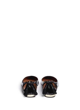 背面 - 点击放大 - AQUAZZURA - FOREVER MARYLIN流苏镂空漆皮平底鞋
