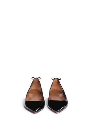 正面 -点击放大 - AQUAZZURA - FOREVER MARYLIN流苏镂空漆皮平底鞋