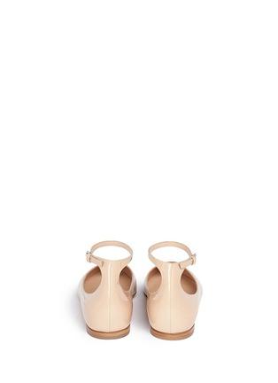 背面 - 点击放大 - GIANVITO ROSSI - 尖头踝带漆皮平底鞋
