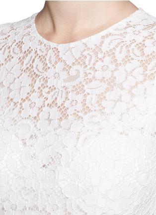 细节 - 点击放大 - DOLCE & GABBANA - 花卉蕾丝褶裥连衣裙