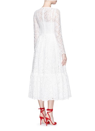 背面 - 点击放大 - DOLCE & GABBANA - 花卉蕾丝褶裥连衣裙