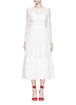 首图 - 点击放大 - DOLCE & GABBANA - 花卉蕾丝褶裥连衣裙