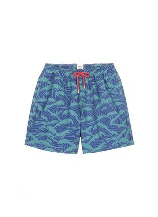 首图 - 点击放大 - Māzŭ - PHILIPPINE SEA海浪印花游泳短裤