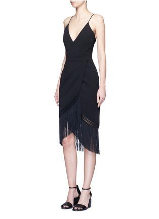 模特示范图 - 点击放大 - NICHOLAS - 流苏裙摆吊带连衣裙