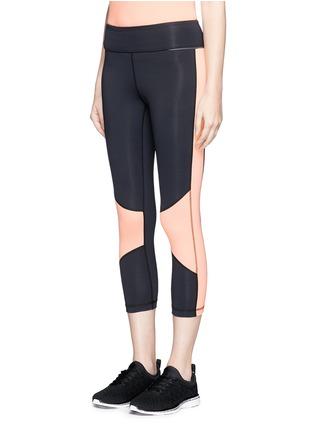 正面 - 点击放大 - ALALA - 拼色七分紧身运动裤