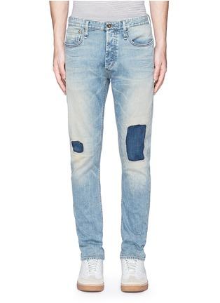细节 - 点击放大 - DENHAM - RAZOR水洗补丁修身牛仔裤