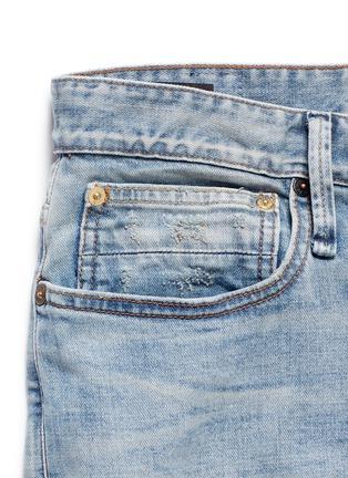 - DENHAM - RAZOR水洗补丁修身牛仔裤