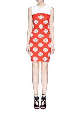 首图 - 点击放大 - Alexander McQueen - Flower jacquard knit skater dress