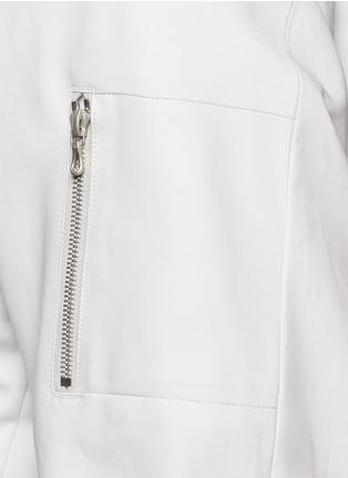 细节 - 点击放大 - ATTACHMENT - 不对称开襟混棉MA-1夹克