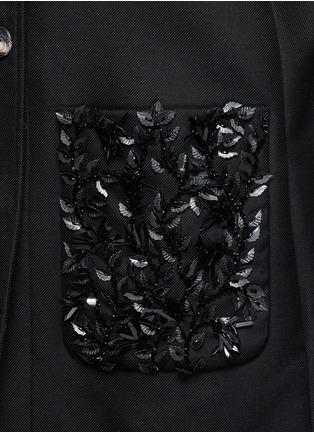 细节 - 点击放大 - BALENCIAGA - 叶片珠饰纯棉大衣