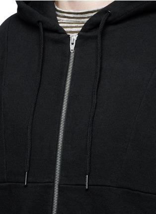 细节 - 点击放大 - T BY ALEXANDER WANG - 单色混棉长款连帽卫衣