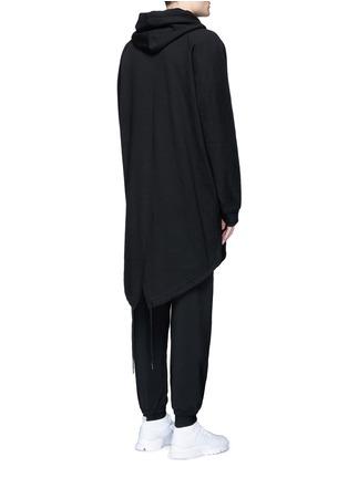 背面 - 点击放大 - T BY ALEXANDER WANG - 单色混棉长款连帽卫衣